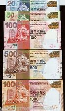 Hong Kong $20 50 100 500 1000 2012 Hsbc Set Dragon Coin Unc Complete Money Note