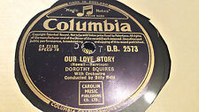 DOROTHY SQUIRES OUR LOVE STORY & TOO WHIT TOO WHOO COLUMBIA DB2573