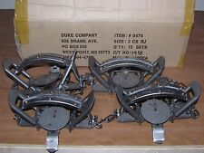 4 New Duke # 3 RUBBER JAW Coil Spring Traps Fox Bobcat Coyote Wolf Trapping 0474