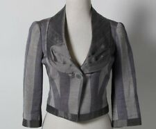 NEW $699 EMPORIO ARMANI Gray One Button Down Long Sleeve Women's Jacket Size 4