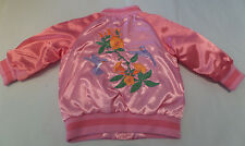 H&M Pink Satin Hummingbird Embroidered Baby Infant Toddler Jacket 9-12 mos  NWT