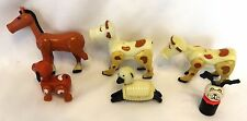 1972-75 Vintage Fisher-Price #915 PLAY FAMILY FARM Lot: TLC Animals w/Rivets