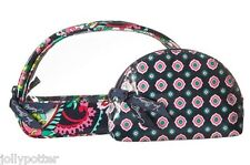 VERA BRADLEY Clear Cosmetic Duo PETAL PAISLEY Makeup Bags Travel Shower Dorm $34