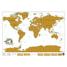 New Travel Vacation Gift Scratch Off World Map Creative Poster Present