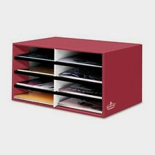 OFFICE DESK PAPER SORTER 8 EIGHT COMPARTMENTS FELLOWES LITERATURE ORGANIZER NEW