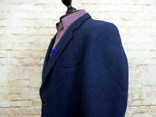 "GENTLEMANS CLASSIC HARRIS TWEED JACKET SIZE 42"" CHEST NAVY BLUE CODE EA6091"