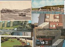 7 postcards Conway Castle embankment smallest house bridges