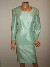 NEW $200 LE SUIT 18 GORGEOUS MINT Green SATIN  Jacket Skirt Womens Suit NWT
