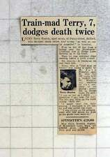 1959 Seven-year-old Terry Heaton, Penny Street Salford Dodges Death Twice