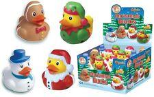 24 Goma Baño Patos, Muñeco de Nieve Navidad, Santa, Elfo, Relleno de Medias de pan de jengibre hombre.