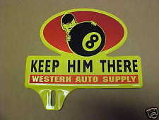 1940's World War 2 Time License Plate Topper Hitler Western Auto WWII