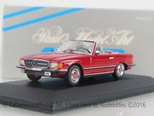 OR144 - 1:43 MINICHAMPS 430 033432 MERCEDES 350 SL Cabriolet 1970-80 red