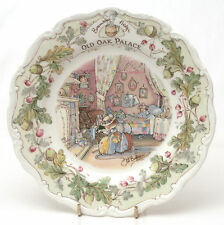 "Royal Doulton Brambly Hedge Porcelain ""Old Oak Palace"" Plate"