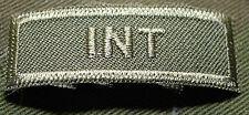 """CANADIAN ARMY COMBAT TAB UNIT BADGE  INSIGNIA  """"INT""""  BUY 1 GET 1 FREE"""