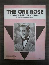 The One Rose That's Left In My Heart Sheet Music Vintage 1936 Guy Lombardo (O)