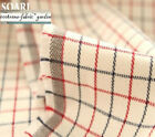 LOVELY RED BLUE WOVEN PLAID/CHECK 100% COTTON QUILTING FABRIC A 50X47CM