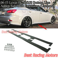 06-13 Lexus IS250 IS350 Bottom Line Addon Side Skirt Extensions (Urethane)