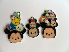 Six  Cute Mixed Tsum Tsum Mickey and Minnie Mouse   Enamel Pendants