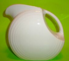 CONTEMPORARY FIESTA WARE POTTERY DISC DRINK PITCHER PEARL WHITE IVORY EGGSHELL