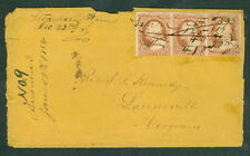 """1855, """"Strawberry Plains"""" Tenn ms town cancel on cover,"""