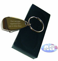 Personalised Chrome Keyring and Bottle Opener, engraved FREE