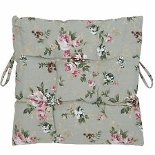 Clayre&Eef Seat Cushion Chair Cushion Shabby Chic 40x40 Cm Roses Country Cottage