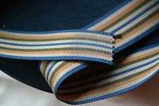 "70+ yard 1 1/4"" wide vintage roll petersham grosgrain striped blue ribbon hat"