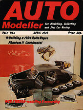 Auto Modeller Magazine Apr 1979 - Rolls Royce Phantom II Continental, Bentley
