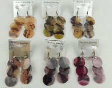 fashion jewelry lot 6 pc animal print drop/dangle earring wholesale lot FR-6