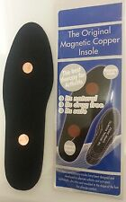 Magnetic Copper insoles Arthritis Rheumatism Joints Aches Pains Relief Slim Sole