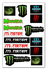24 x 16 MONSTER Motorcycle Motorbike Tuning Car Decal Set Stickers Vinyl Emblem