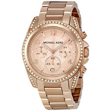 NEW Authentic Micheal Kors Blair Rose Gold-Tone Chronograph Ladies Watch MK5263