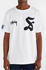 NEW WHITE STUSSY 7 T SHIRT TEE MEN'S SIZE SMALL