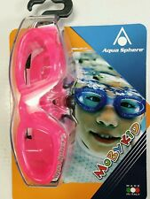 Aqua Sphere Pink Girls Moby Kid Swimming Pool Goggles Double Strap