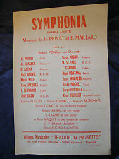 Partition Symphonia Jo Privat E Maillard Music Sheet 1959