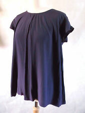 Quirky arty THE MASAI CLOTHING COMPANY deep purple oversized top XS 10 12