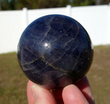 Big Premium BLUE IOLITE Crystal Sphere Ball THIRD Eye Activator Aura Stone