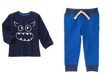 Gymboree Everyday All Star Navy Monster Tee Shirt & Active Pants Set Boys 4T NWT