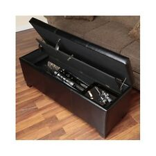 Gun Storage Bench Hidden Cabinet Concealed Rifle Shotgun Safe Lock Guns Firearms