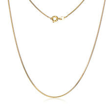 Statement Womens Yellow Gold Plated Snake Chain Long Necklace Lucky