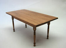 "Artisan Miniature 1"" Scale Dining table rectangular cherry finish"
