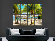 TROPICAL BEACH SEA MALDIVES  ART WALL LARGE IMAGE GIANT POSTER