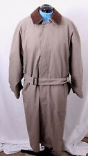 Ralph Lauren RN 21510 Leather Collar Lined Belted Trench Coat Men's 42R