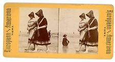 Coney Island Brooklyn NY-MEN IN WOMENS BATHING SUITS-Stereoview Cross Dressing