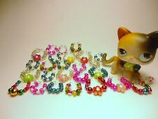 Littlest Pet Shop Accessories 8 Necklaces/Collars Lot of 8  No LPS pet included