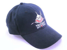 Trident Angry Shark Scuba Diving Ball Cap Dive Hat Dark Blue / Faded Black