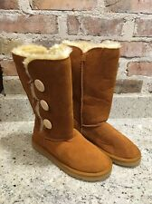 UGG~ Bailey Button Triplet tall Boots Chestnut  US 8/ 39 New 1873
