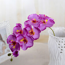 Wedding Colorful Artificial Fake Silk Flower Phalaenopsis Butterfly Orchid MD