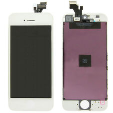 LCD Touch Screen Digitizer Front Glass Assembly Replacement for iPhone 5 White