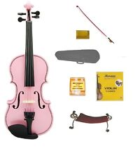 New PINK VIOLIN,PINK BOW,Case+Shoulder Rest+Strings+Tuner 1/4 Size Student